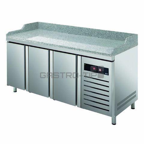 Chladící pizza stůl třídveřový GTP-8-200-30 GR - DÁREK + DOPRAVA ZDARMA