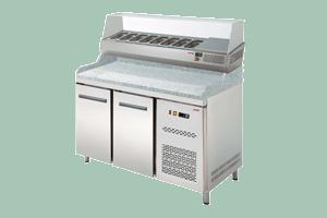 Chlazený pizza stůl dvoudvéřový s nástavbou RTP-2D - DÁREK + DOPRAVA ZDARMA