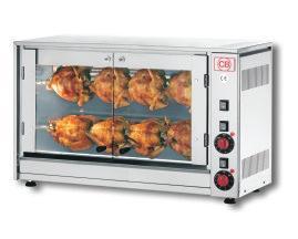 Elektrický gril na kuřata 8 kuřat E-8P-S2 - DOPRAVA ZDARMA