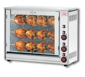 Elektrický gril na kuřata 12 kuřat E-12P-S3 - DOPRAVA ZDARMA