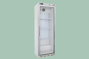 Chladící skříň bílá prosklená 350l - HR-400 G - DÁREK + DOPRAVA ZDARMA