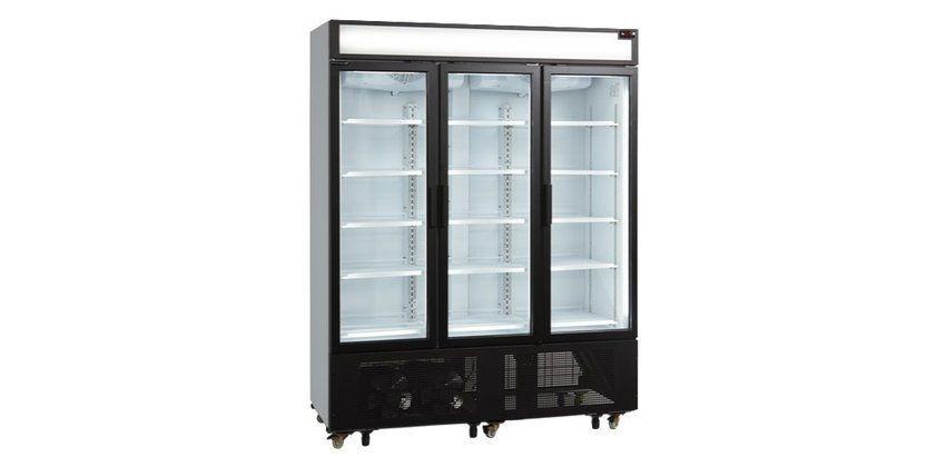 Chladící skříň 1600mm/1233l - 3x prosklené KŘÍDLOVÉ dveře - DÁREK + DOPRAVA ZDARMA - FSC-1600H