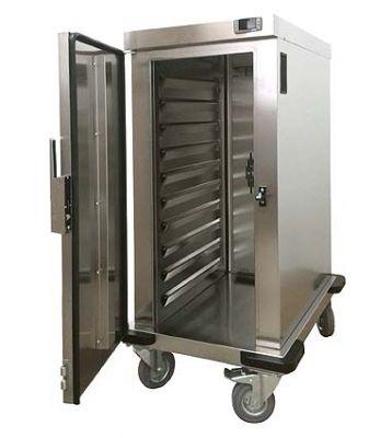 Ohřívací skříň na pokrmy s ventilátorem pojízdná 10x GN 1/1 - 65