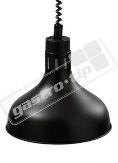 Infra lampa závěsná černá 29cm