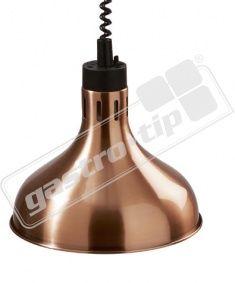Infra lampa závěsná měď 29cm