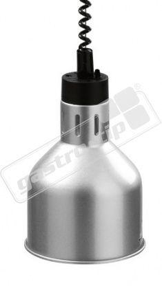 Infra lampa závěsná chrom/lak 18cm