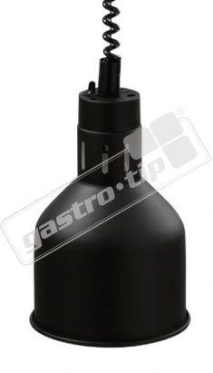 Infra lampa závěsná černá/lak 18cm