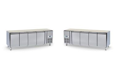 Chladící stůl 4 dvéřový bez desky NORDLINE GN-4100 TN UNIVERSAL - DÁREK + DOPRAVA ZDARMA - 2 VARIANTY