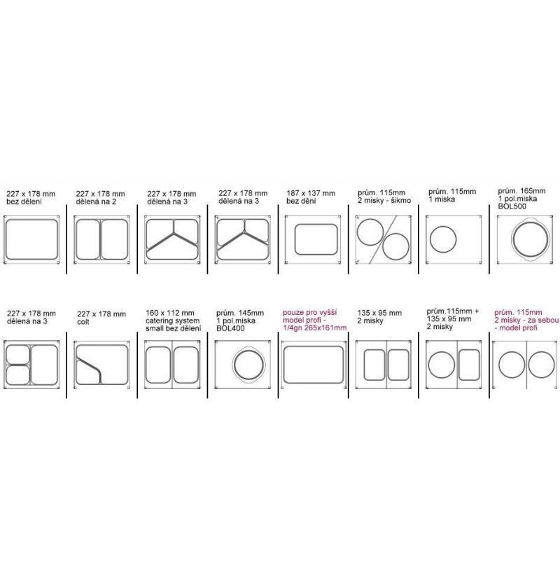Balička-svářečka zatavovací AG-02 plastových misek včetně matrice AG12